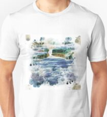 Abstract beautiful water fall Unisex T-Shirt