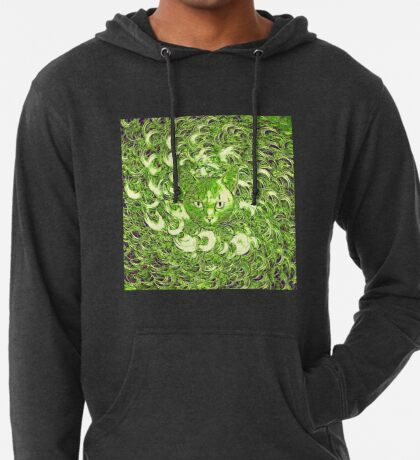 Hiding in fractal feathers Lightweight Hoodie