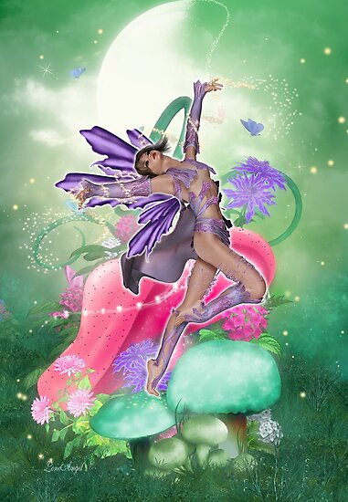 Joyful Fairy .. fantasy art by LoneAngel