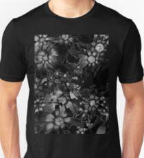 Black Floral Unisex T-Shirt