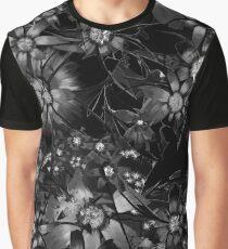 Black Floral Graphic T-Shirt