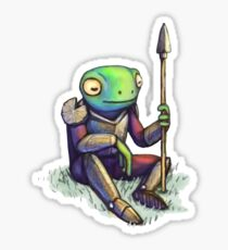 Lilypad Knight Sticker