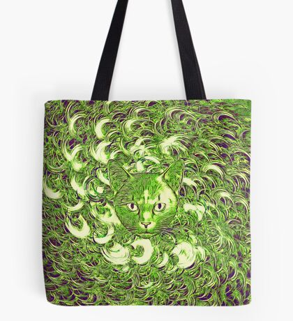Hiding in fractal feathers Tote Bag