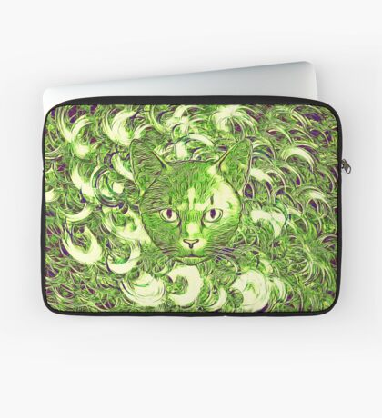 Hiding in fractal feathers Laptop Sleeve
