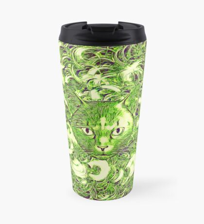 Hiding in fractal feathers Travel Mug