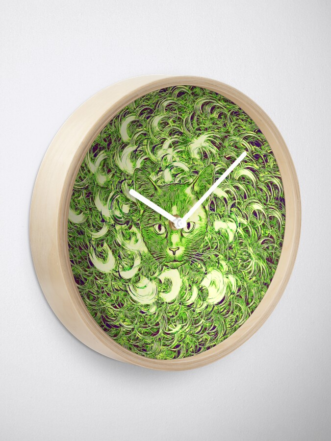 Alternate view of Hiding in fractal feathers Clock