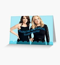 Tina and Amy Greeting Card
