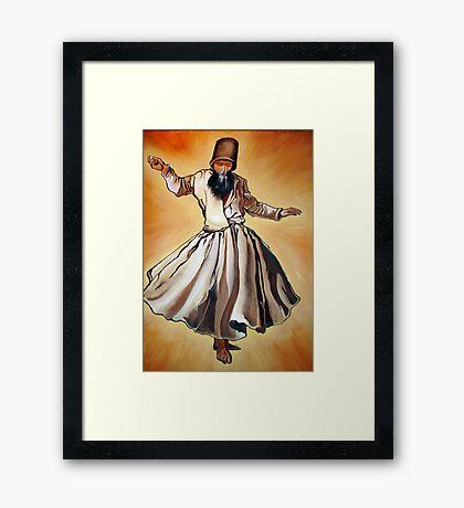 Semazen - Sufi Whirling Dervish Framed Print