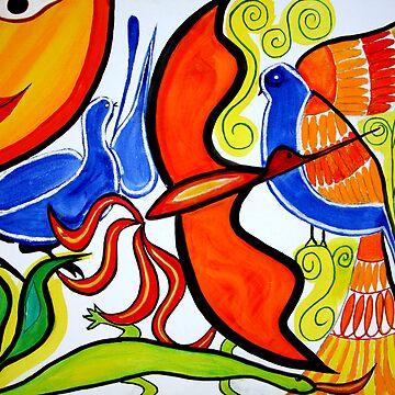The orange Bird. by huess