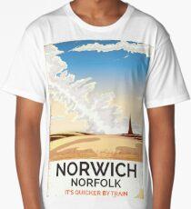 Norwich, Norfolk vintage rail poster Long T-Shirt