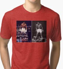 Anthony Joshua Muhammad Ali iconic (T-Shirts, Phone Case and more) Tri-blend T-Shirt