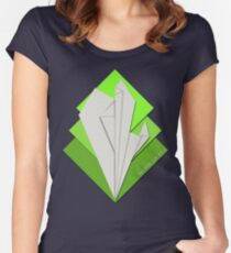 Movie Ticket II Green Women's Fitted Scoop T-Shirt