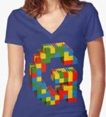 Innitial G Lego Women's Fitted V-Neck T-Shirt