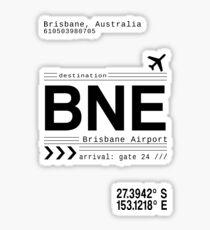 BNE Brisbane Australia Airport Call Letters Sticker