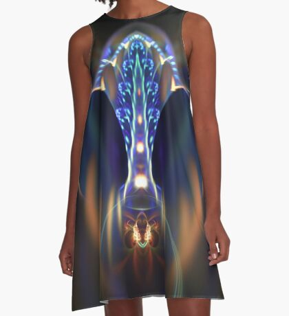 Extraterrestrial life #fractal art A-Line Dress