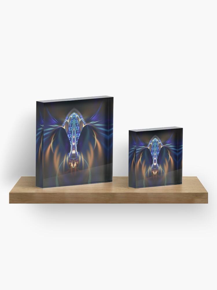 Alternate view of Extraterrestrial life #fractal art Acrylic Block