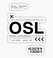 Oslo, Norway airport call letters Sticker