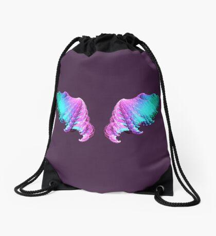 Wings #fractal art Drawstring Bag