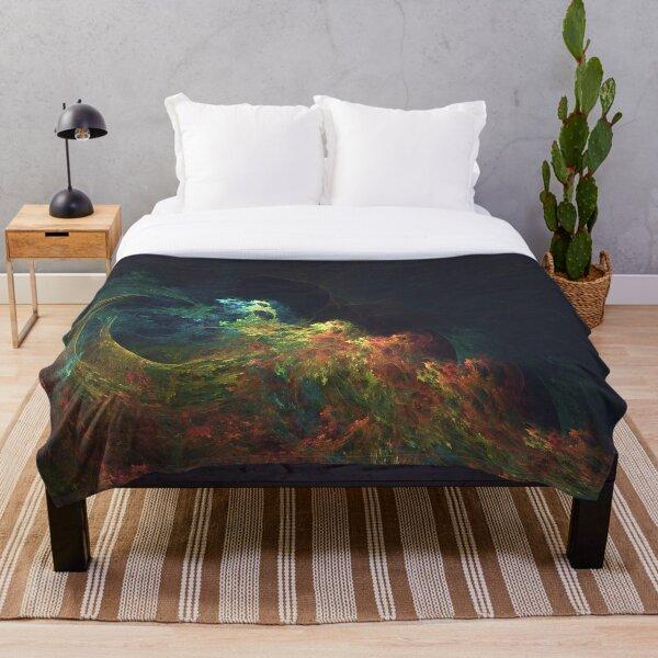 The Storm #fractal art Throw Blanket