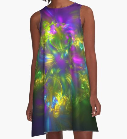 Five stars #fractals A-Line Dress