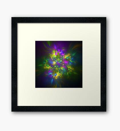 Five stars #fractals Framed Print