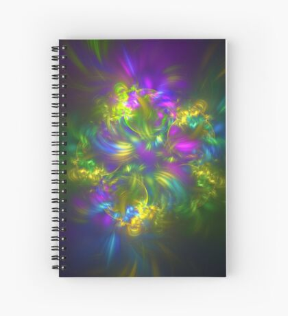 Five stars #fractals Spiral Notebook