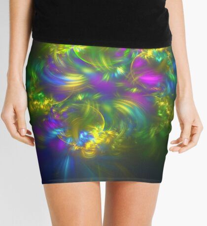 Five stars #fractals Mini Skirt