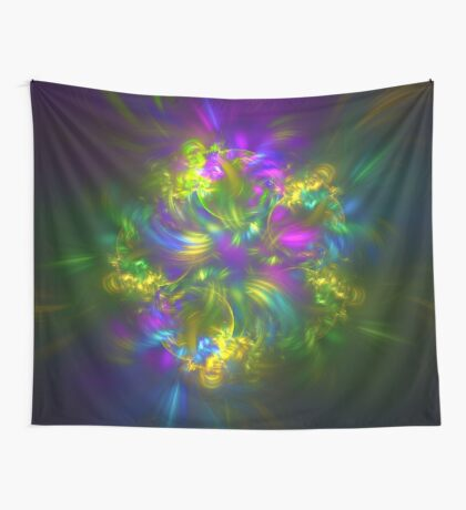 Five stars #fractals Wall Tapestry