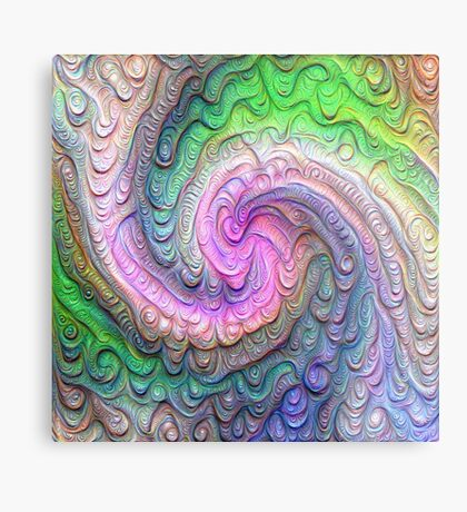 Frozen color Wave #DeepDream #Art Metal Print