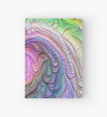 Frozen color Wave #DeepDream #Art Hardcover Journal
