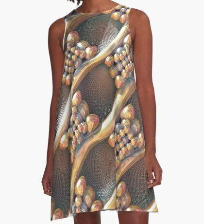 Golden #Fractal A-Line Dress