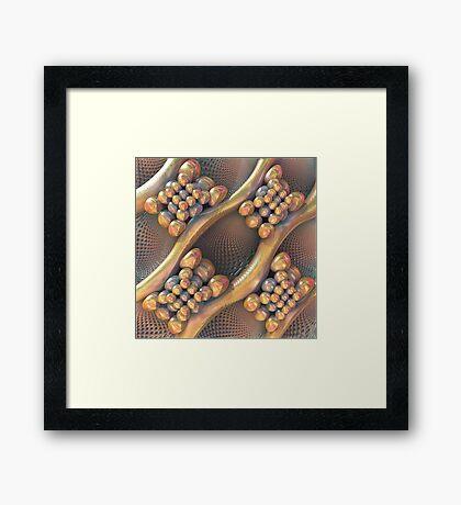 Golden #Fractal Framed Print