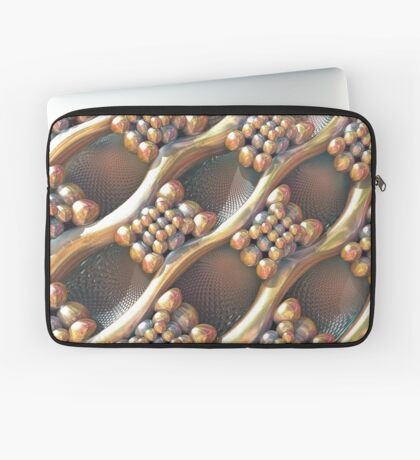 Golden #Fractal Laptop Sleeve