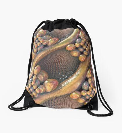 Golden #Fractal Drawstring Bag