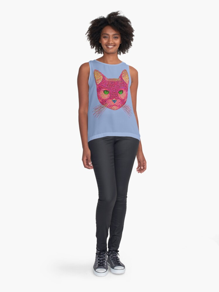 Alternate view of Rose Hungry Cat Sleeveless Top