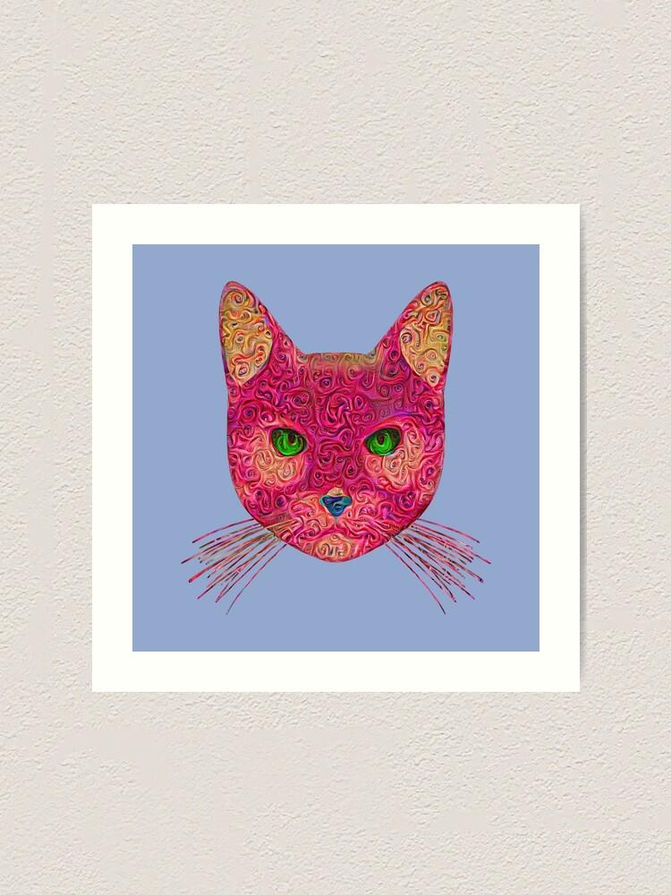 Alternate view of Rose Hungry Cat Art Print