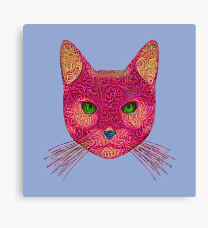 Rose Hungry Cat Canvas Print