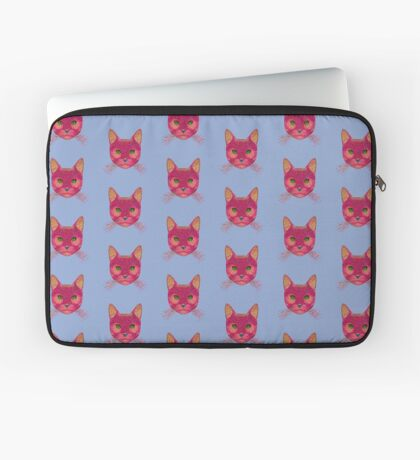 Rose Hungry Cat Laptop Sleeve
