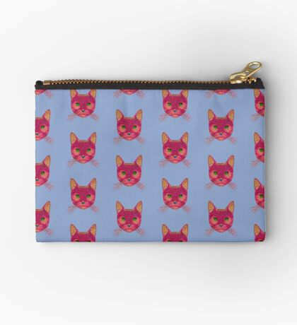 Rose Hungry Cat Zipper Pouch