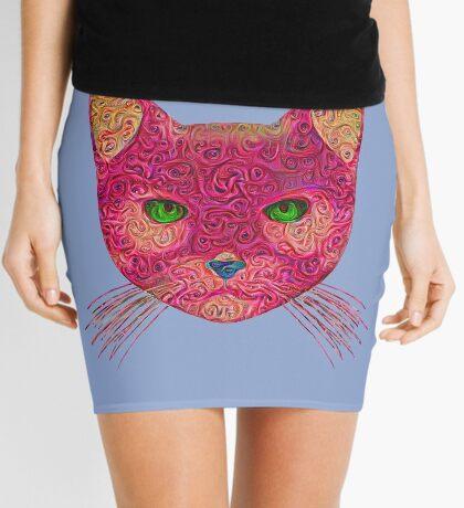 Rose Hungry Cat Mini Skirt