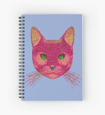 Rose Hungry Cat Spiral Notebook