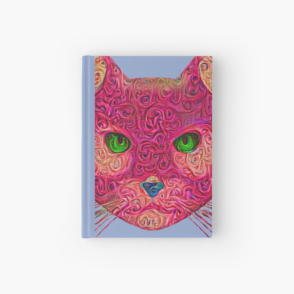 Rose Hungry Cat Hardcover Journal