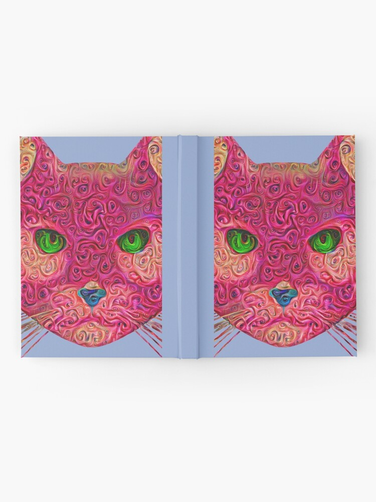 Alternate view of Rose Hungry Cat Hardcover Journal