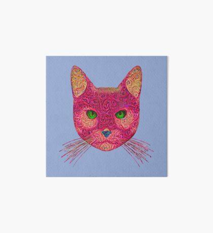 Rose Hungry Cat Art Board Print