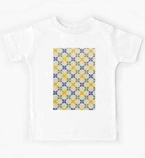 Painted Patterns - Floral Azulejo Tiles in Green Blue and Yellow Kids Clothes
