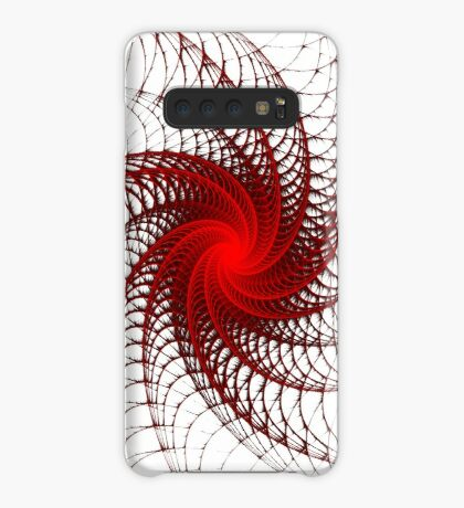 Red Propeller Planet Case/Skin for Samsung Galaxy