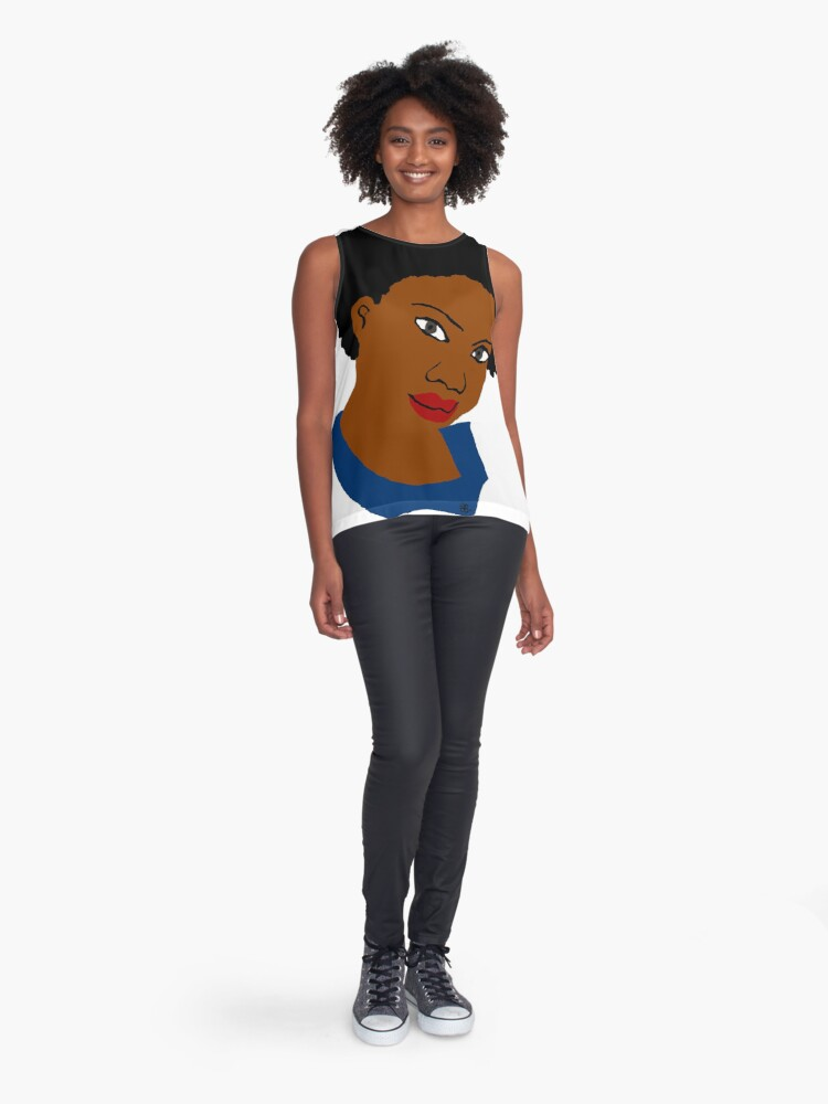 Alternate view of Love Your Beautiful Afro Natural Hair Tee Sleeveless Top