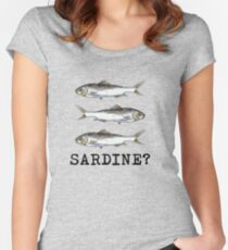 Sardine? Women's Fitted Scoop T-Shirt