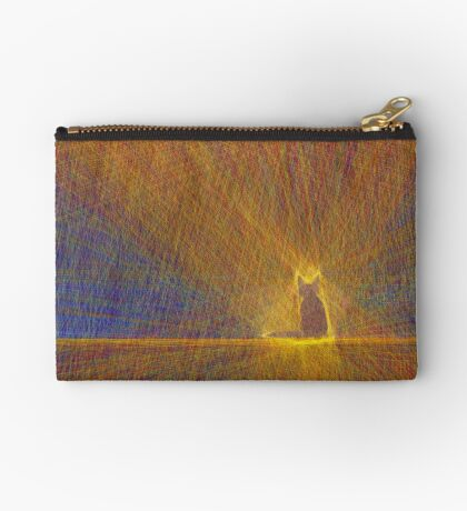 Cat on the roof Zipper Pouch
