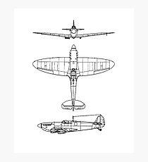 Supermarine, Spitfire, Supermarine, Spitfire, Fighter, WWII, 1942, Fighter, WWII, 1942, Photographic Print